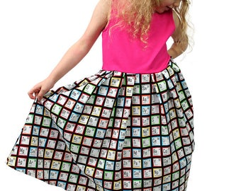 SALE, 2 and 3 years, Twirly Pocket Dress Chemistry Princess Periodic Table
