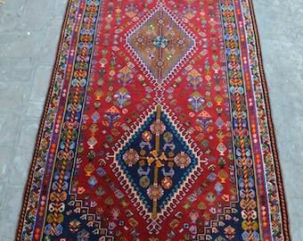 202 x 86 cm Diamond Best Quality Persian Handmade Caucasian rug runner, Floral runner, Hallway runner, indoor design runner, wool handmade