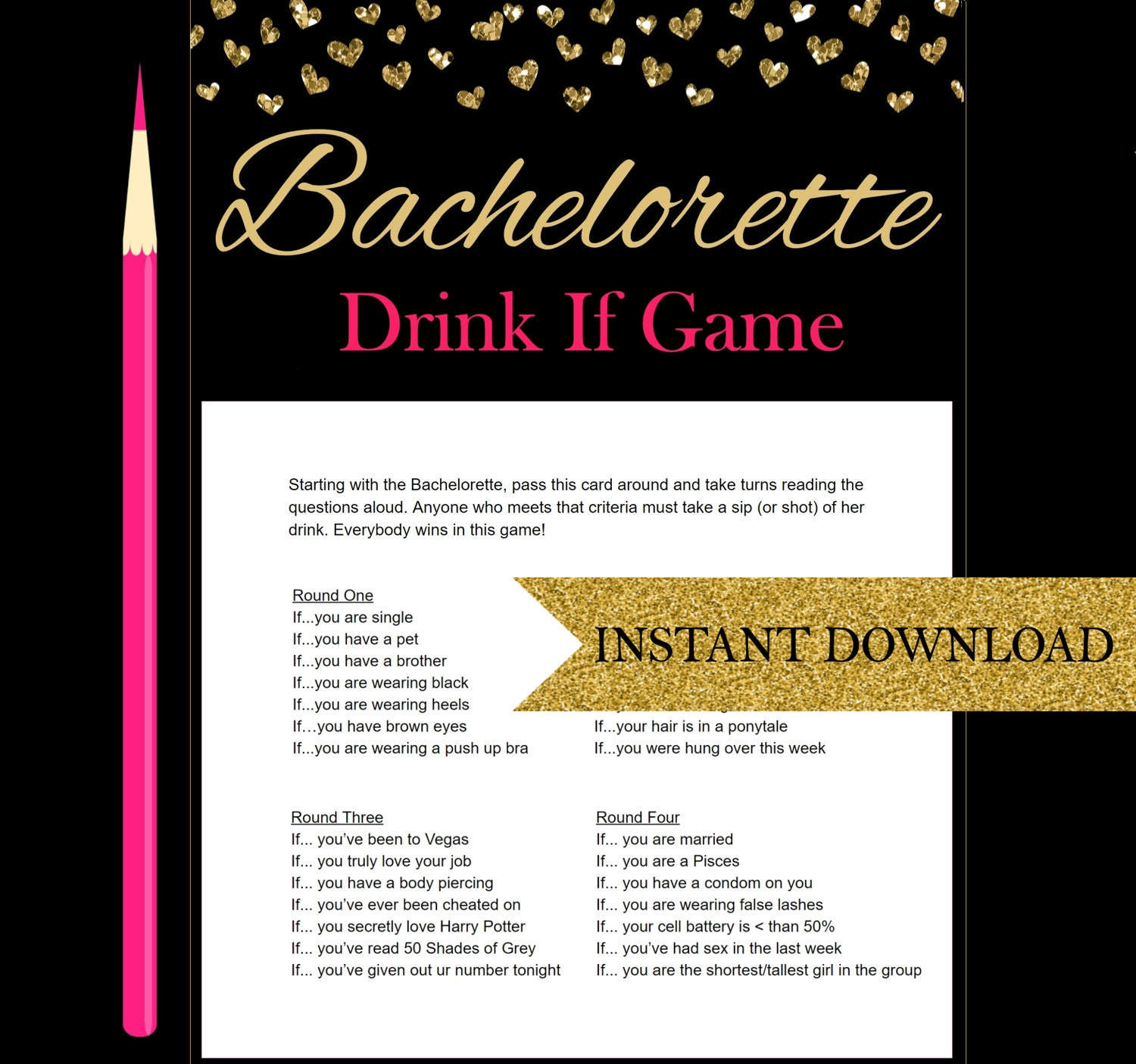 Name That Drink Bachelorette Game Answers