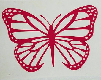 Butterfly Decal - permanent vinyl - perfect for Yeti & Rtic cups, phones, laptops, tablets, windows, girls room, mailbox etc.