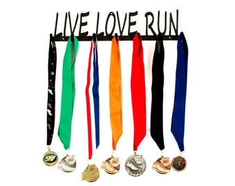 Running Medal Holder, Running, Live Love Run Medal Holder, Live Love Run, Running Medal Display, Runner Gifts, Running Medal Hanger