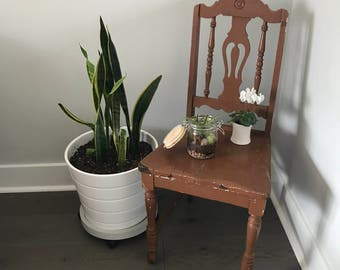 Vintage Wooden Chippy Paint Chair