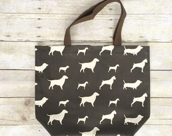 Dog Tote Bag, Reusable Grocery Bag, Dog Market Tote