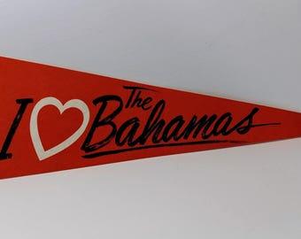 I Love The Bahamas - Vintage Pennant