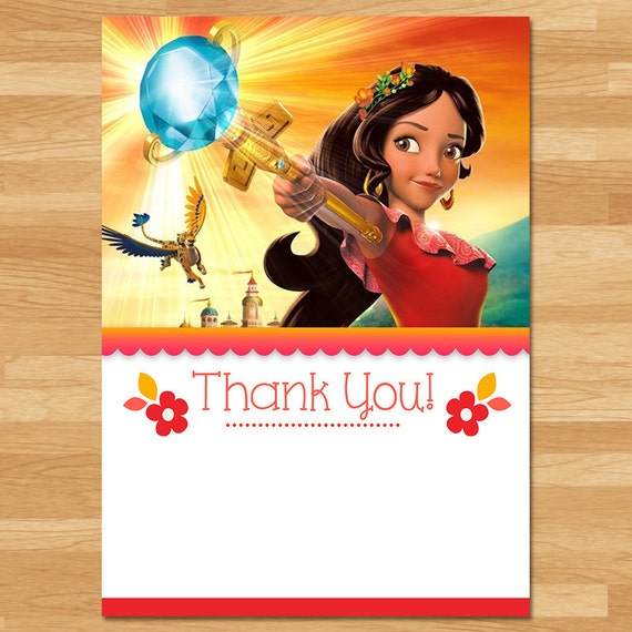 Elena of Avalor Thank You Card Instant Download - Chalkboard - Elena Thanks - Thank You - Princess Elena Printables - Elena of Avalor Party