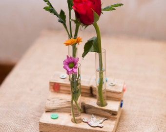 Wooden Flower Holder