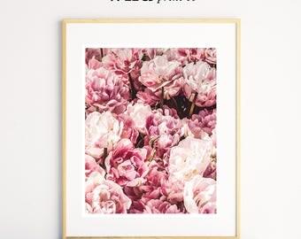 Flower Wall Art, Pink Prints, Flower Printable, Girls Room Wall Decor, Flower Photography, Modern Wall Art, Flower Prints, Nature Wall Art