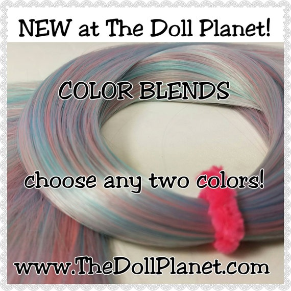 XL 2oz (57g) Hank 2 Color BLENDED Nylon Doll Hair for Rerooting Monster & High Ever After High Int Ship