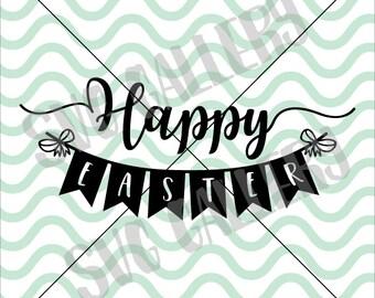 Happy Easter SVG, Easter SVG, bunny svg, Easter bunny svg, hoppy easter svg, Digital cut file, Easter egg svg, bunny svg, commercial use OK