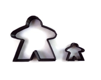Meeple Cookie Cutter - Board Game Fondant Cutter - Meeple Cupcake Topper