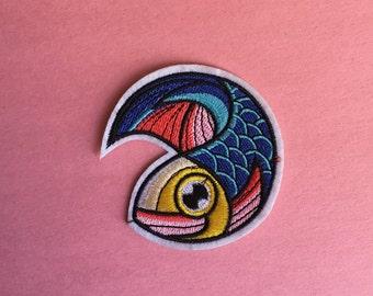 Koi fish Iron on patch