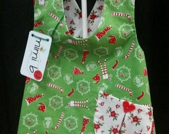 Baby Toddler Girl Christmas Sweet Pocket Pinafore Tunic Top Size 18mo
