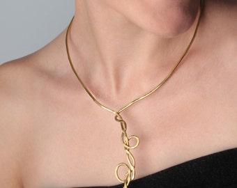 Brass necklace design