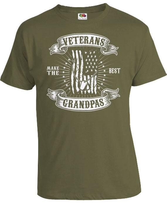 Veteran gifts for grandpa t shirt army tshirt grandfather for Built for war shirt