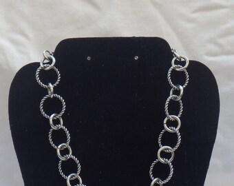 Vintage Silver Ring Necklace