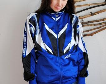 Jako windbreaker 1990s 1980s sport jacket blue wind blazer