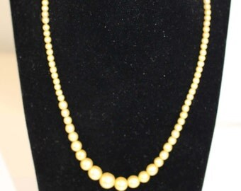 Vintage Pearl Necklace, Faux Pearl Necklace, Costume Jewellery, Downton Abbey Style Necklace,