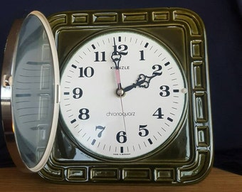 Items Similar To Vintage Wall Clock Meister Anker German