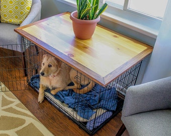 Dog Crate Topper, End Table, Living Room Furniture, Home Decor, Dog Crate, Pet Accessories,  Dog Accessories