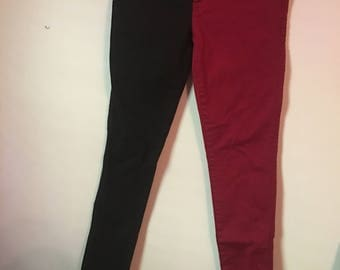 Black and Red Jeans Size 9