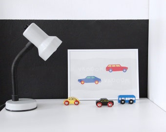 Car Print - Poster - Kids' Room - Prints for kids - A4