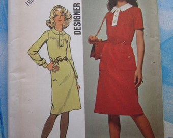Simplicity 9658 1971 Vintage Dress Sewing Pattern 16