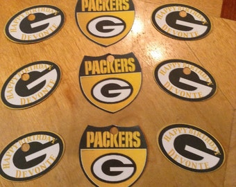 Greenbay Packers Personalized Gift Tags