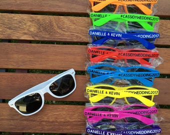 KIDS Personalized Sunglasses, Birthday Party Favors, Family Vacation Favors, Family Reunion Gifts, Sports Team, Childrens Wedding Favor