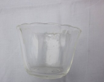 Vintage Fire King Clear Glass Custard Cup