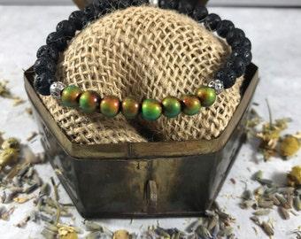 Mood Stone | Essential Oil Diffuser Bracelet | Lava Jewelry | Aromatherapy Bracelet | Gift for Her | Zen Gift | Healing Bracelet | Yoga