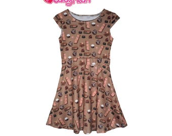 Kids Candy Dress Kids Chocolate Dress Chocolate Dress Girls Chocolate Candy Dress Sweets Children *****MTO, Month****