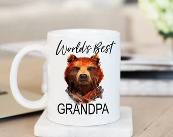 World's Best Grandpa, Grandpa Mug, Grandfather Gift, Gift for Grandpa, Baby Shower Gift, Father's Day Gift, Grandparents Gift, Baby Shower