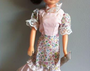 Vintage Sindy dress, handbag, 1980 You and Sindy, European issue.