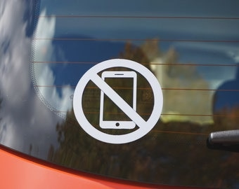 No cell phone decal / No cell phone allowed sticker / No cell phone warning / No cell phone sign (Indoor & Outdoor)