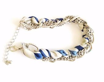 Going out of business sale ribbon and chain bracelet