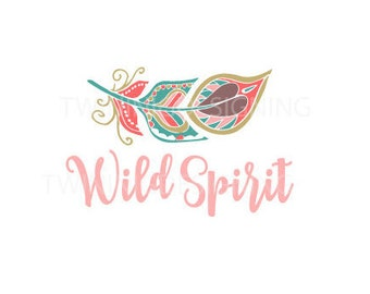 Wild Spirit Boho feather native SVG PNG DXF digital file