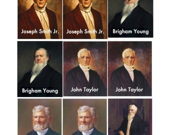FINISHED LDS Prophets Memory Game--printed, cut, laminated and shipped