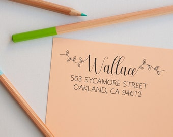 Return Address Stamp Calligraphy, Address Stamp Self Inking, Calligraphy Addressing, Address Stamp, Addressing Stamp, Custom Address Stamp