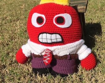 Angery crochet homemade doll/ plush
