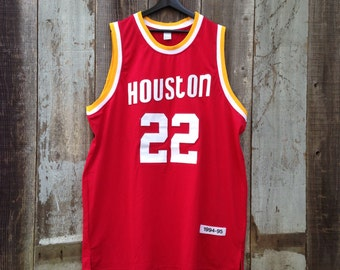 Vintage Houston Rockets Clyde Drexler Jersey | Vintage Clyde Drexler Houston Rockets Jersey | #22 Clyde Drexler Jersey | Clyde The Glide