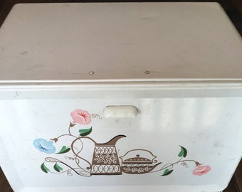 Vintage Tin Ransburg Bread Box
