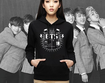 BTS Bangtan Boys Hoodie Front back Name Jung kook Rap monster Jimin j hope Suga G dragon