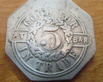 Unusual Vintage Hy Eshenfelder Bar Token
