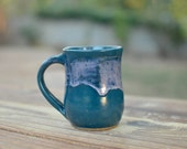 Ocean Waves Mug - Handmade Mug - Pottery Mug - Ceramic Mug - Blue Mug - Coffee Mug - Tea Cup
