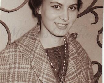 Vintage Photo - Woman Photo - Young Woman - Vintage Snapshot - Polish Photo - Woman Fashion - Vintage Style - Woman Style - 1950s fashion