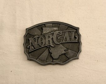 Vintage NorCal Pewter Belt Buckle