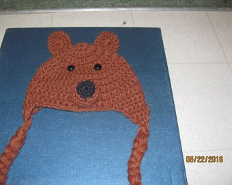 brown bear hat for kids
