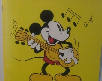 Disney Sing Along Songbook 1986 Like New Walt Disney Productions