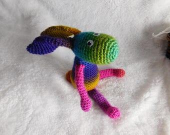 Amigurumi - Crochet Rainbow Rabbit Handmade.