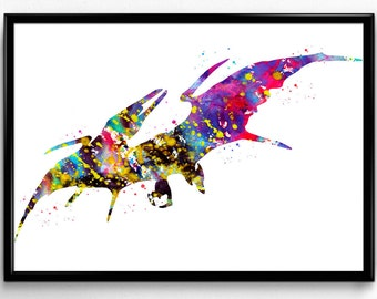 Pterodactyl, Dinosaur, Animal print,Instant Download, Poster, Room Decor, gift, Printable Wall Art (795)